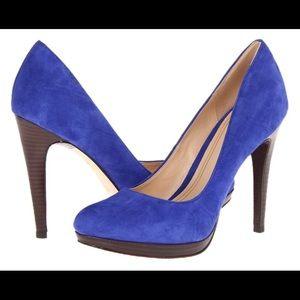 •Cole Haan• Blue Suede Heels